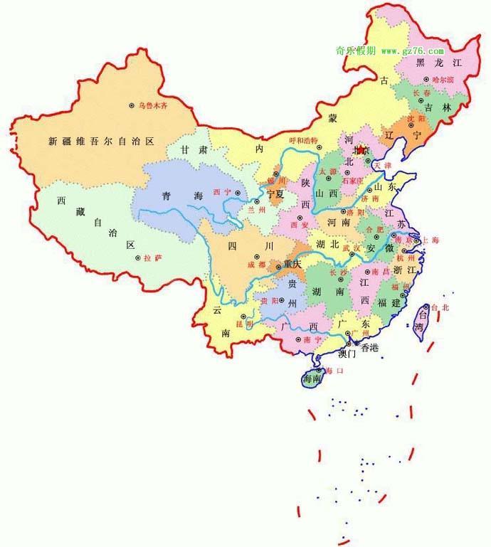 中国行政地图_中国简介