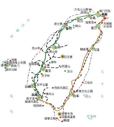 台湾旅游地图